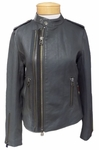 Margaret O'Leary Chloe Leather Jacket - Pewter