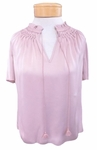 Margaret O'Leary Hand-Smocked Top - Rose