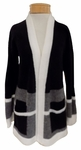 Margaret O'Leary Lizzie Coat - Charcoal Color Block - (Size S)