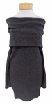 Margaret O'Leary Ollie Off The Shoulder Dress - Charcoal