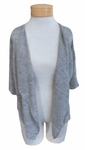 Margaret O'Leary Simple Short Cardigan - Oyster