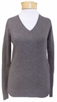Margaret O'Leary Simple V-Neck Cashmere Pullover - Bison