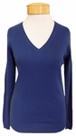 Margaret O'Leary Simple V-Neck Cashmere Pullover - Prussian