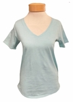 Margaret O'Leary Soft Vee Tee - Mint