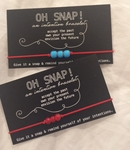Oh Snap Bracelet - Red Elastic/Red or Blue