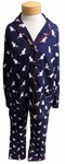 PJ Salvage Cat's Pajamas Flannel PJ Set - Navy
