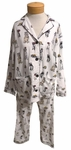 PJ Salvage Dogs Flannel PJ Set - Ivory