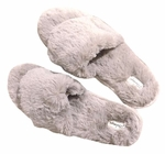 PJ Salvage Fur Slides - Stone - SOLD OUT