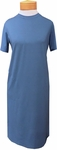 Sarah Liller Felicity Crew Neck Short Sleeve Dress - Peacock Blue (Size L)