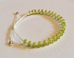Satori Rue Beaded Friendship Bracelet - Lime/Cream