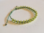 Satori Rue Beaded Friendship Bracelet - Lime on Green