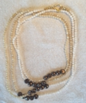 Satori Rue Extra Long Layering Necklace - Neutrals with Pearls - SOLD OUT