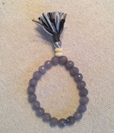 Satori Rue Yogi Beaded Tassel Bracelet - Stability/Solid Grey - SOLD OUT