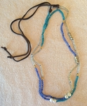 Satori Rue Yogi Eternity Wrap Necklace Bracelet - Teal/Blue