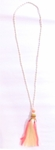 Siganka Beaded Tassel Necklace - Cream