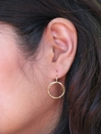 Sosie Gold Filled Diamond Cut Circle Earrings - SOLD OUT