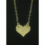 Sosie Gold Filled Hammered Heart Necklace