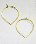 Sosie Gold Lotus Petal Hoops