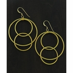 Sosie Gold Matte Interlocking Circle Earrings