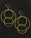 Sosie Gold Matte Interlocking Circle Earrings- SOLD OUT