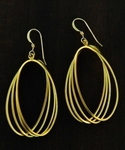 Sosie Gold Matte Quad Earrings - SOLD OUT
