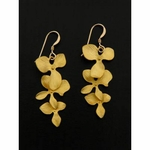 Sosie Matte Gold Cascading Orchids Earrings - SOLD OUT