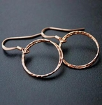 Sosie Rose Gold Diamond Cut Circle Earrings