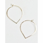 Sosie Rose Gold Lotus Petal Hoops - RESTOCKED