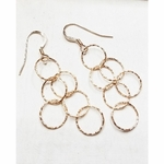 Sosie Rose Gold Over Sterling Silver Spheres Earrings