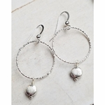 Sosie Silver Diamond Cut with Brushed Bead Earring