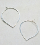 Sosie Silver Lotus Petal Hoops - SOLD OUT