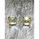 Sosie Vermeil Gold Cushion Topaz Studs Earrings - SOLD OUT