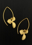 Sosie Vermeil Gold Marquis Orchid Earrings - SOLD OUT
