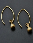 Sosie Vermeil Gold Marquis w/Gold Droplet - SOLD OUT