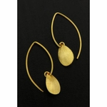 Sosie Vermeil Marquis Brushed Petal Earrings - SOLD OUT