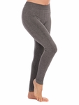 Tees by Tina Cable Legging - Heather Grey