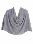 Tees by Tina Cashmere Ruana - Heather Ash Gray - SOLD OUT