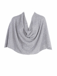 Tees by Tina Cashmere Ruana Poncho - Frost - SOLD OUT