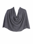 Tees by Tina Cashmere Ruana Poncho - Heather Charcoal- SOLD OUT