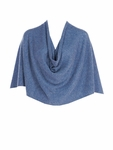 Tees by Tina Cashmere Ruana Poncho - Light Blue Denim