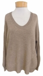 Velvet Althea Cashmere U-Neck Sweater - Camel