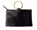 Velvet Camilia Clutch - Black