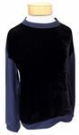 Velvet Carey Silk Velvet Fleece Pullover - Ink