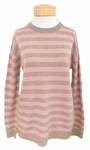 Velvet Cath Striped Cashmere Sweater - Posey/Camel