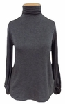 Velvet Jojo Long Sleeve Turtleneck - Charcoal