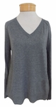 Velvet Kaylin V-Neck Lightweight Sweater - Heather Grey