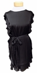 Velvet Tenley Satin Viscose Dress - Black
