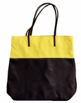 Velvet Yasmin Leather Tote - Navy/Yellow - SOLD OUT