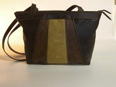 Leather Handbag #317-3 Made in USA