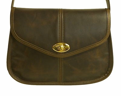 Leather Handbag #92 Dark Brown<br>